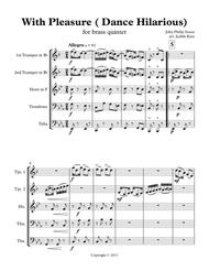 With Pleasure ( Dance Hilarious) - for brass quintet
