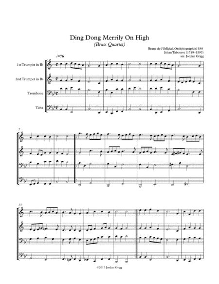 Ding Dong Merrily On High (Brass Quartet)