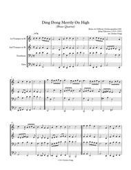 Ding Dong Merrily On High (Brass Quartet)