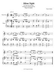 Silent Night for Tenor Sax & Piano