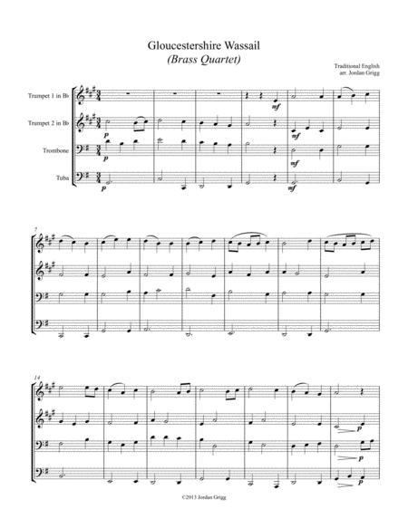 Gloucestershire Wassail (Brass Quartet)