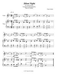 Silent Night for Violin & Piano