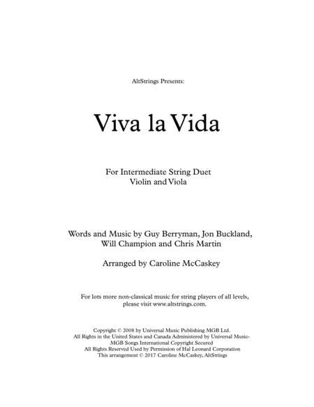 Viva La Vida - Violin and Viola Duet