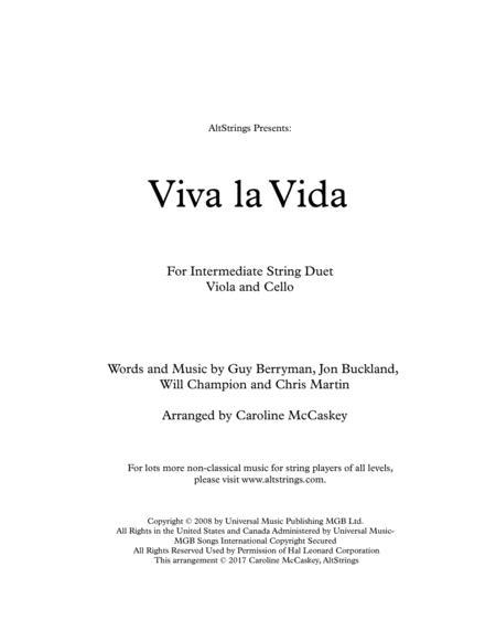 Viva La Vida - Viola and Cello Duet