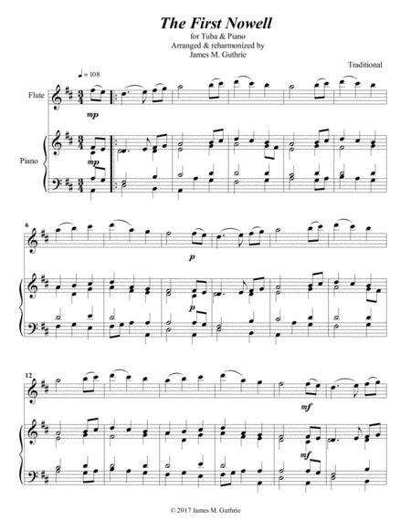 The First Noel for Flute & Piano