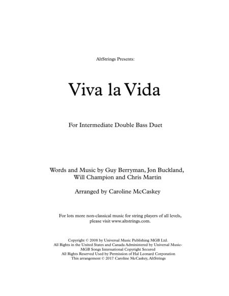Viva La Vida - Double Bass Duet