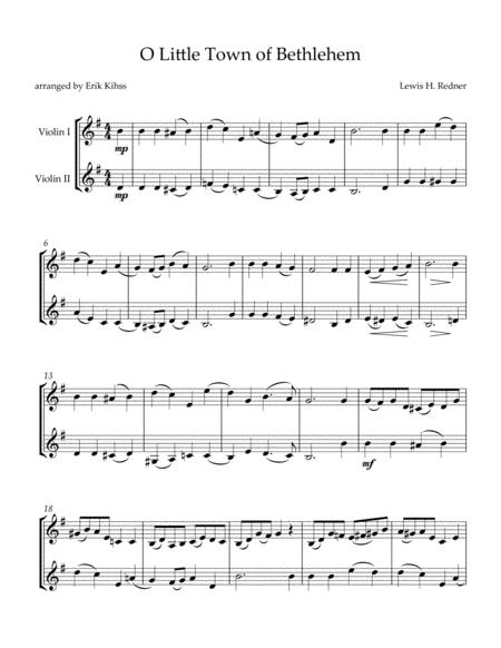 O Little Town of Bethlehem - Violin duet