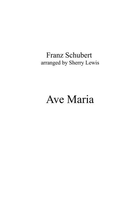 Ave Maria by Franz Schubert for STRING TRIO