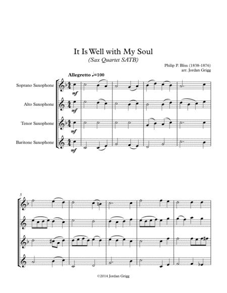 It Is Well with My Soul (Sax Quartet SATB)