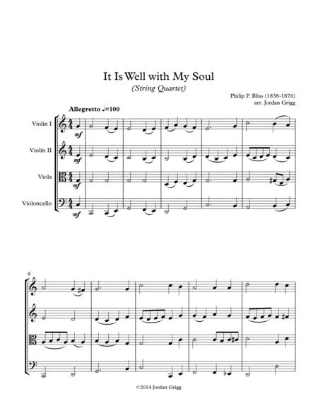 It Is Well with My Soul (String Quartet)