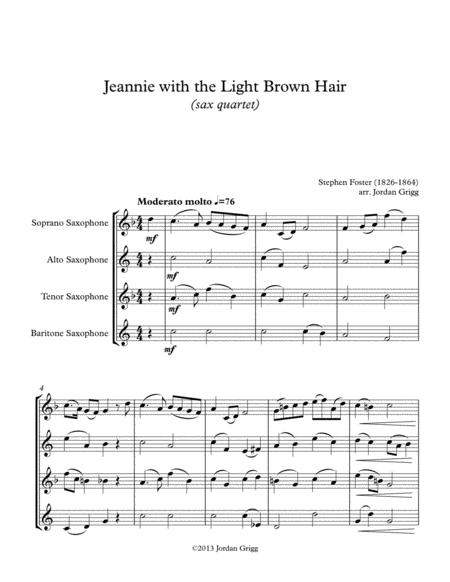 Download Jeanie With The Light Brown Hair (sax Quartet