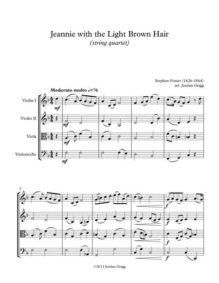 Jeanie with the Light Brown Hair (string quartet)