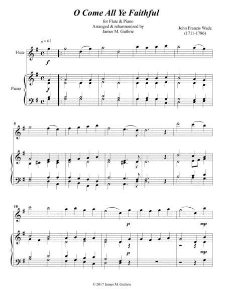 O Come All Ye Faithful for Flute & Piano