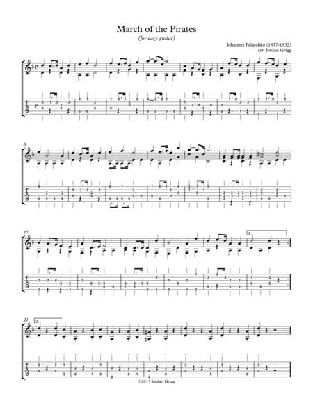 March of the Pirates (for easy guitar)