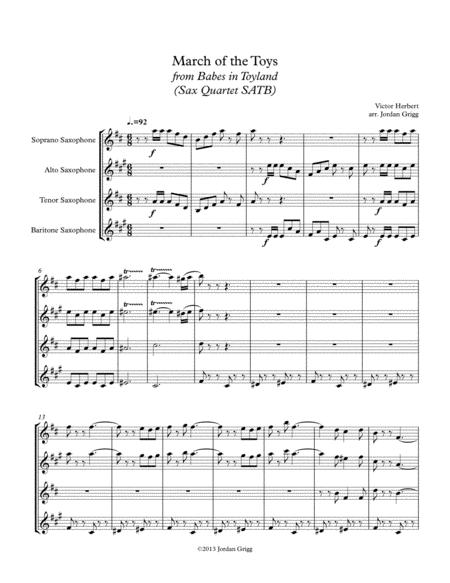 March of the Toys from Babes in Toyland (Sax Quartet SATB)
