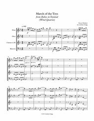March of the Toys from Babes in Toyland (Wind Quartet)