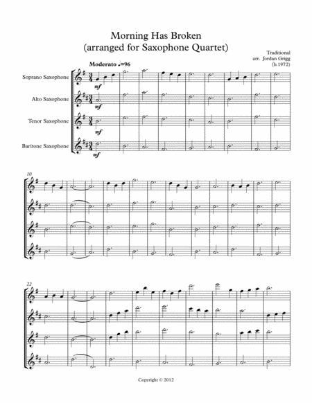 Morning Has Broken (arranged for Saxophone Quartet)