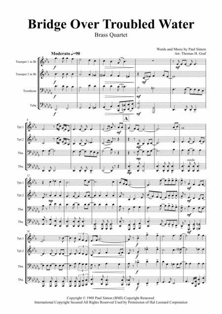 Bridge Over Troubled Water - Simon&Garfunkel - Brass Quartet