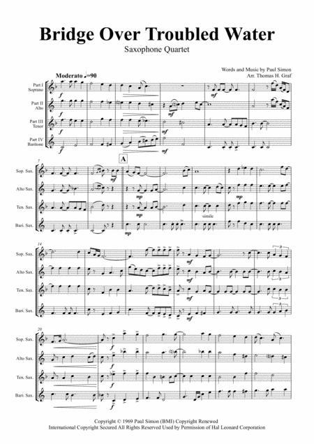 Bridge Over Troubled Water - Simon&Garfunkel - Saxophone Quartet