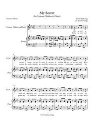 My Secret (for Unison Children's Choir)