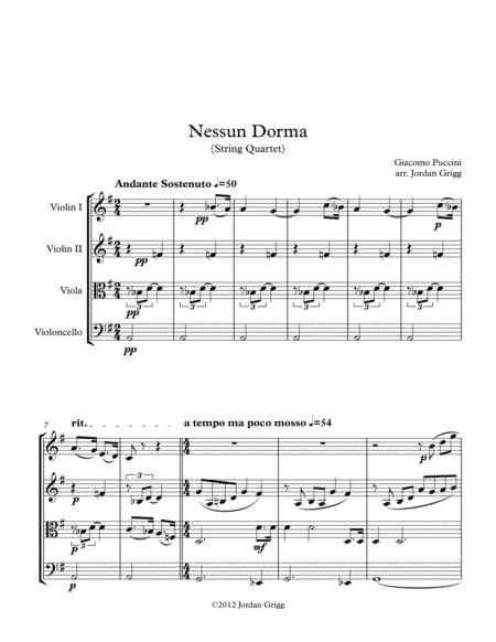 Nessun Dorma (String Quartet)