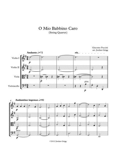 O Mio Babbino Caro (String Quartet)