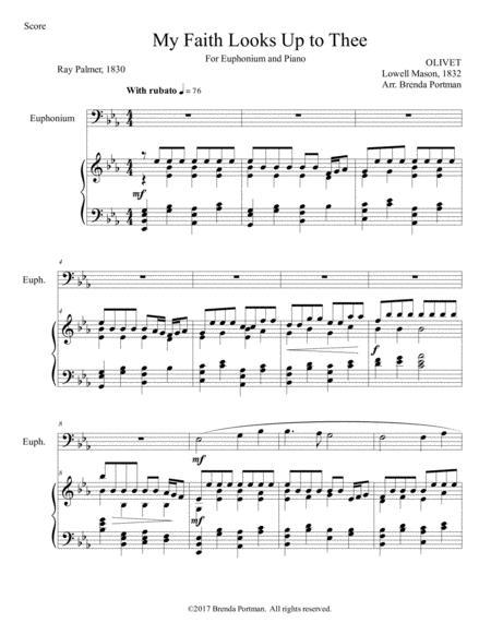 My Faith Looks Up to Thee (euphonium/piano), arr. Brenda Portman