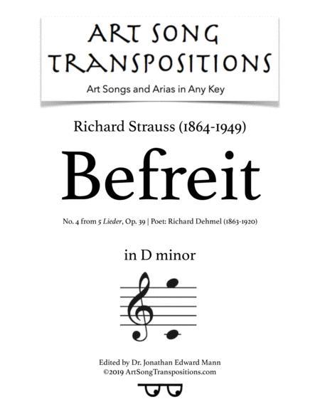 Befreit, Op. 39 no. 4 (D minor)