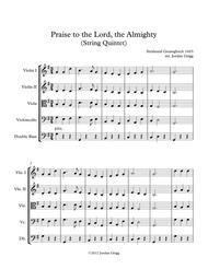 Praise to the Lord, the Almighty (String Quintet)