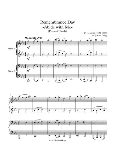 Remembrance Day 'Abide with Me' (Piano 4 Hands)