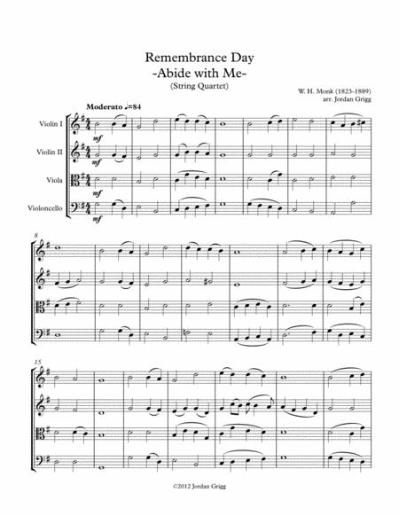Remembrance Day 'Abide with Me' (String Quartet)