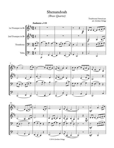 Shenandoah (Brass Quartet)