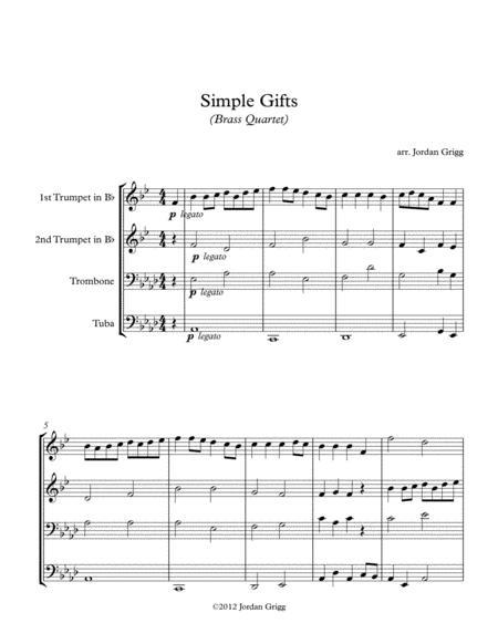 Simple Gifts (Brass Quartet)