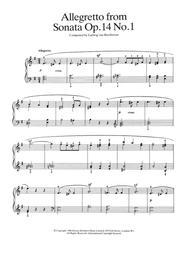 Allegretto from Sonata Op. 14, No. 1