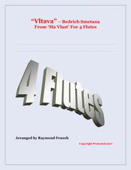 Vltava - From 'Ma Vlast' - For 4 Flutes