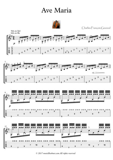 Download Ave Maria Guitar Solo Advanced Sheet Music By