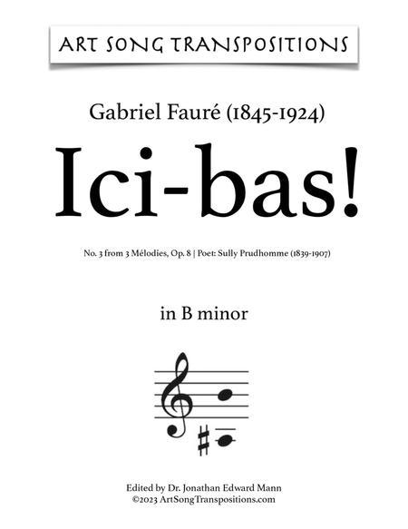 Ici-bas! Op. 8 no. 3 (B minor)