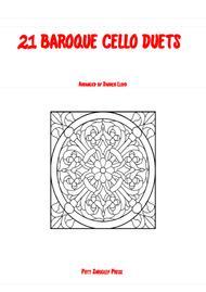 21 Baroque duets for 2 Cello's