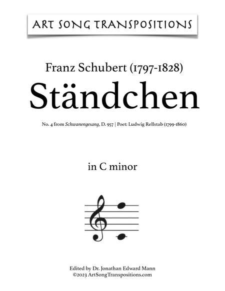 Ständchen, D. 957 (in 3 medium keys: C, B, B-flat minor)