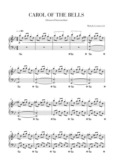 Carol of the Bells - Advanced intermediate piano