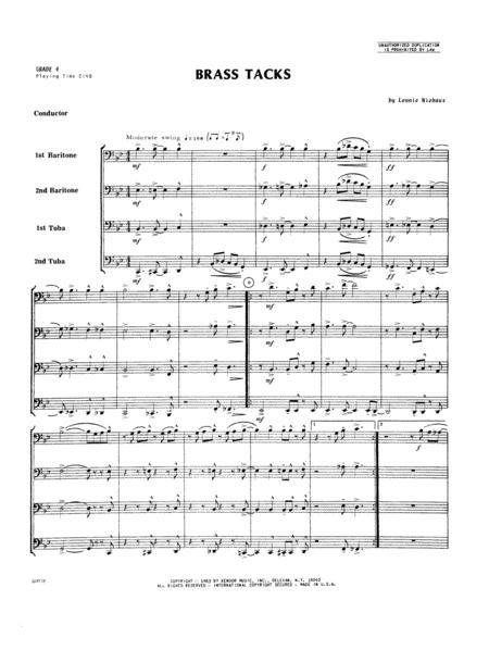 Brass Tacks - Full Score