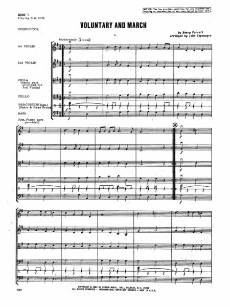Voluntary and March - Full Score