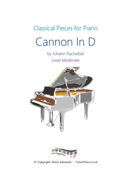 Cannon In D - Moderate Piano Solo