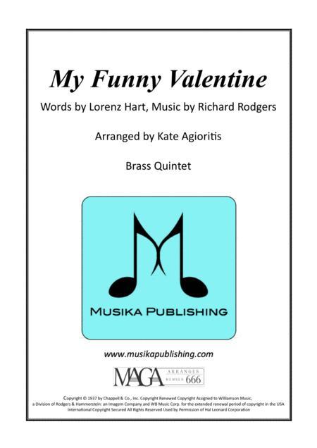 My Funny Valentine - Brass Quintet