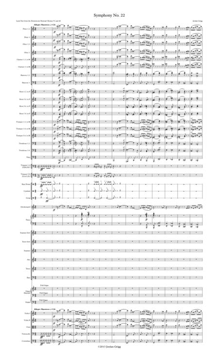 Symphony No.22 Score and parts