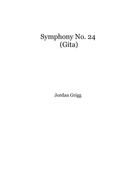 Symphony No.24 (Gita) Score and parts