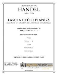 Handel - Lascia Ch'io Pianga from Act II of Rinaldo - Score and Orchestral Parts
