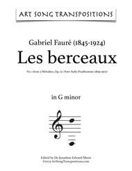Les berceaux, Op. 23 no. 1 (G minor)