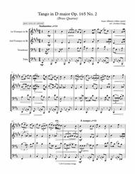 Tango in D major (Brass Quartet), Op.165 No.2