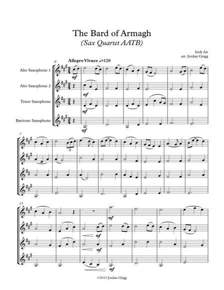 The Bard of Armagh (Sax Quartet AATB)